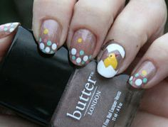 glam-madam: just a whole bunch of unnecessary: Lil' chick Easter mani