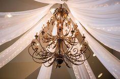 Sleepy Ridge Weddings & Events | Sunset Room | Utah Venue | Chandelier | Drapery | Ceremony | Terra Cooper Photography