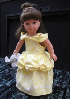 How to make this cute dress for you 18 inch doll.