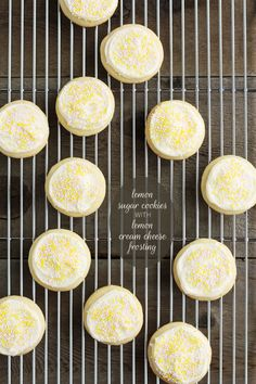 Recipe Redux: Lemon Sugar Cookies with Lemon Cream Cheese Frosting