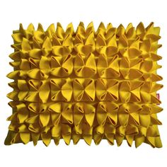 Rebecca Barton of Cushlab crafts felt into distinct shapes — origami, florals and loops — to create her unique line of cushions Contemporary Cushions, Modern Cushions, Yellow Cushions, Hgtv Designers, Interior Design Process, Felt Pillow, Art Japonais, Fabric Manipulation, Metal Walls