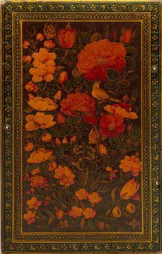 ,Qajar circa,18th century.Lacquer Mirror case.