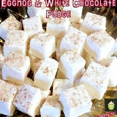 Eggnog and White Chocolate Fudge Recipe Desserts with butter, heavy ...