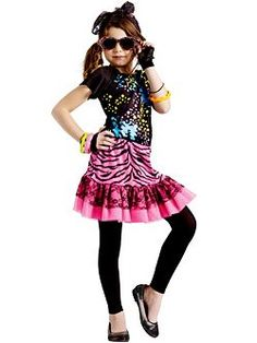 Girl's 80's Pop Party Costume | Cheap 80's Costumes Halloween Costume for Girls
