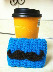 Mustache Applique  - free crochet applique pattern