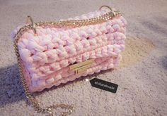 Crossbody Bag || Crochet Shoulder Bag || Urban Style Handbag || Winter Fashion 2017 || Urban Chic || Little Red Handbag by elvihandmade on Etsy