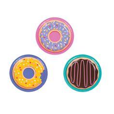 Donut Party Dessert Plates