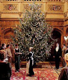 Christmas Tree at Downton Abbey