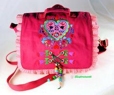 """Kindergartentasche  """"Bellafiori"""" Frühling,Blume... von Illustramenti - Nadelmalerei - Embroidery auf DaWanda.com"""