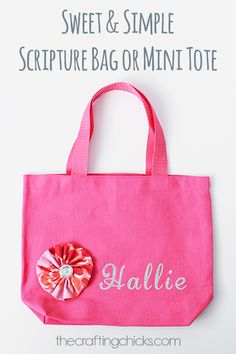 Sweet and simple bag or mini tote