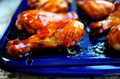 """PW- BBQ Chicken Legs with a """"secret"""" homemade sauce. I can't wait to try these for my lil one that loves legs better than any other part."""