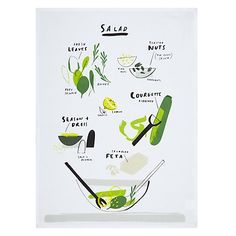Buy John Lewis Salads Single Tea Towel Online at johnlewis.com