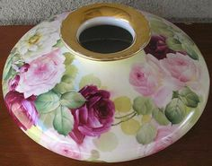 Limoges France Antique Hand Painted Huge Squat Vase ~France Studios from theverybest on Ruby Lane
