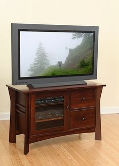 New entertainment unit is definately on my wish list Hardwood Furniture, Amish Furniture, Living Room Furniture, Home Furniture, Tv Stand Brown, Amish House, Beautiful Songs, Media Center, The Unit
