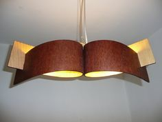 Hanging lamp with natural wood texture4 by zyrRafo on Etsy, zł190.00