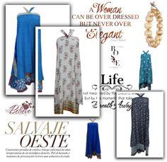 Womens Bohemian Clothing: Indo Silk Wrap Skirt Dresses For Ladies