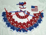 Valentine Crinoline Girl Doily  $4.95 for pattern, many options with different colors
