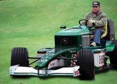 wow; souped up lawn mower for that big country yard