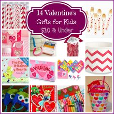 14 Valentine's Day Gifts for Kids Under $10. Repinned by  SOS Inc. Resources http://pinterest.com/sostherapy.