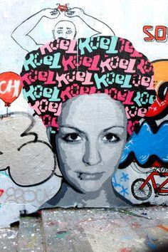 Paris 10 - quai de Valmy - mur face à l'école Marseille - street art
