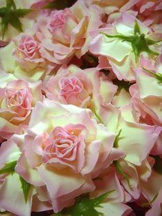 "(12) BIG Cream Light Pink Edge Silk Roses Flower Head - 3.75"" - Artificial Flowers Heads Fabric Floral Supplies Wholesale Lot for Wedding Flowers Accessories Make Bridal Hair Clips Headbands Dress by RoseXLFlorist, http://www.amazon.com/dp/B009JU1CT0/ref=cm_sw_r_pi_dp_Pjmcsb1HDZTGG"