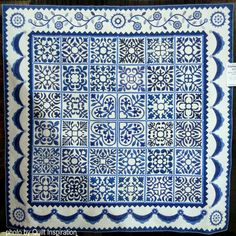 "Sarah's Revival in Blue, 87 x 84"",  by Gail H. Smith and Karen C. McTavish (Illinois).  Photo by Quilt Inspiration."