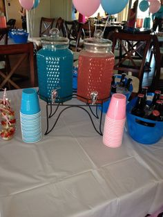 Gender Reveal party blue and pink