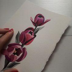#tulips #watercolor #sashaunisex #bracelettattoo