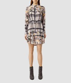 Explore our range of women's dresses. Shop the latest arrivals with free delivery on UK orders over & free UK returns. Pretty Little Liars Outfits, Pretty Outfits, Spencer Hastings Style, Whimsical Dress, Gray Dress, Silk Dress, Spring Summer Fashion, Style Inspiration