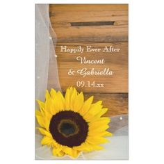 Sunflower and Bridal Veil Country Wedding Banner