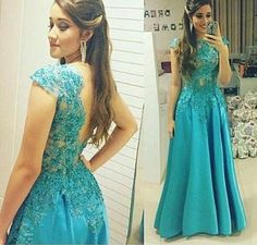Luxury Lace Appliques Prom Dress,Beading Evening Dress,Sexy Backless Party Dress