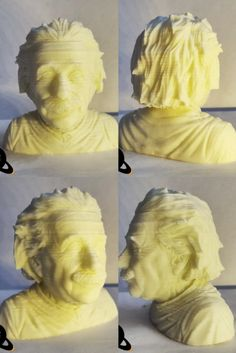 3DPlanet 3D Printed Einstein Bust by 3DPlanet on Creality Ender-3 Pro,White Filament