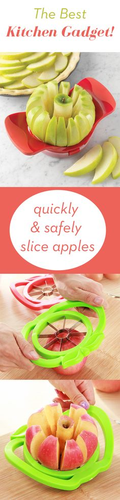 This is the ultimate apple slicer that will cut your apples perfect to eat one by one. It also removes the Core of the apple in a perfect way. Add a unique clever product to your kitchen!