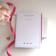 Personalized Notepad  #Gratitude by #LetterLoveDesigns on Etsy, $22.00 #personalizedstationery