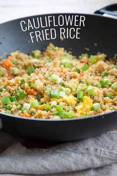 Tasty cauliflower fried rice is the low carb, Paleo recipe that satisfies your craving for takeout. Learn to make riced cauliflower the easy way with frozen, defrosted cauliflower.