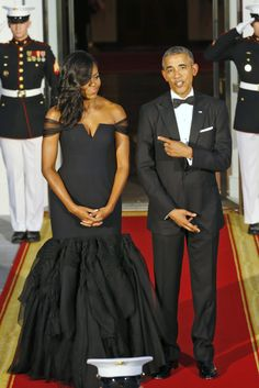 Michelle Obama Killed It in Vera Wang at Last Night's White House State Dinner