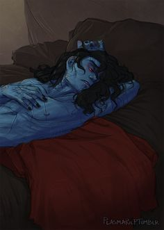 "plasmapulp: "" thor 2 panel is happening today and i'm not there so have some melodramatic, sprawled jotun!loki """