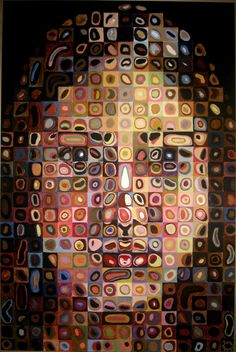 High school project to do a self portrait in the style of a famous artist, so I chose Chuck Close. please view both large and small SelfPortrait Chuck Close style Chuck Close Paintings, Chuck Close Art, Chuck Close Portraits, School Art Projects, High School Art, Art Plastique, Teaching Art, Art Lessons, Art History