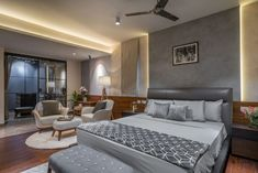 The Home For An Industrialist In Hyderabad Living Room Designs India, Living Room Modern, Living Area, Flat Interior, Interior Colors, Indian Home Design, Cove Lighting, Beautiful Houses Interior, Apartment Complexes