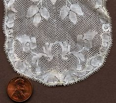 Valenciennes, round hole, approximately 3rd quarter 18th c design.  (Detail)