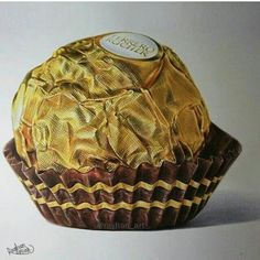 Ferrero rocher Sweet Drawings, Realistic Drawings, Colorful Drawings, Candy Drawing, Food Drawing, Chocolate Drawing, A Level Art Sketchbook, Color Pencil Sketch, Colored Pencil Artwork