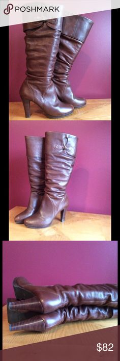 "Matisse vamp boot SZ 8.5 Cognac EUC Beautiful boot goes with many colors. Synthetic sole Shaft measures approximately 16.25"" from arch Heel measures approximately 3.75"" Platform measures approximately 0.5"" Boot opening measures approximately 14.25"" around. Matisse Shoes Heeled Boots"