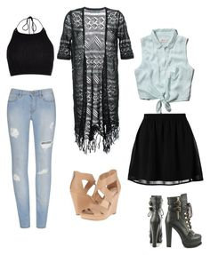 """Untitled #15"" by i-luv-life-l-am-kat ❤ liked on Polyvore featuring Abercrombie & Fitch, even&odd, Luichiny, Guild Prime, River Island and Jessica Simpson"