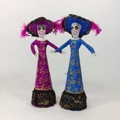 Paper Mache Jalisco Bride and Bridesmaids Catrinas