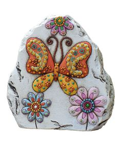 Take a look at this Butterfly Garden Gem Stone by Transpac Imports on #zulily today!