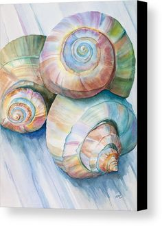 Balance in Spirals Watercolor Painting by Michelle Constantine Balance In Spirals Watercolor Painting Painting by Michelle Wiarda - Balance In Spirals Watercolor Painting Fine Art Prints and Posters for Sale Art Plage, Art Watercolor, Watercolour Paintings, Watercolor Techniques, Art Et Illustration, Beach Art, Oeuvre D'art, Painting & Drawing, Painting Canvas