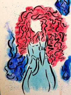 Merida painting by SubthingKrafty on Etsy