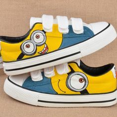 MINIONS Hand Painted Men & Women Cartoon Sneaker Sport Shoes flat Hot Gifts #unbranded #cosplay