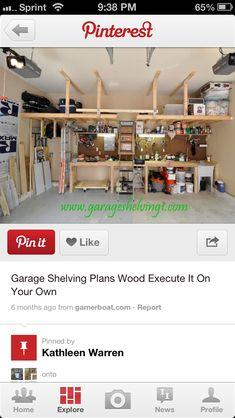 overhead garage shelves