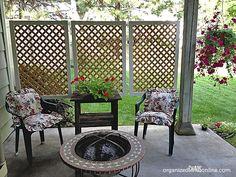 DIY patio privacy screens 18